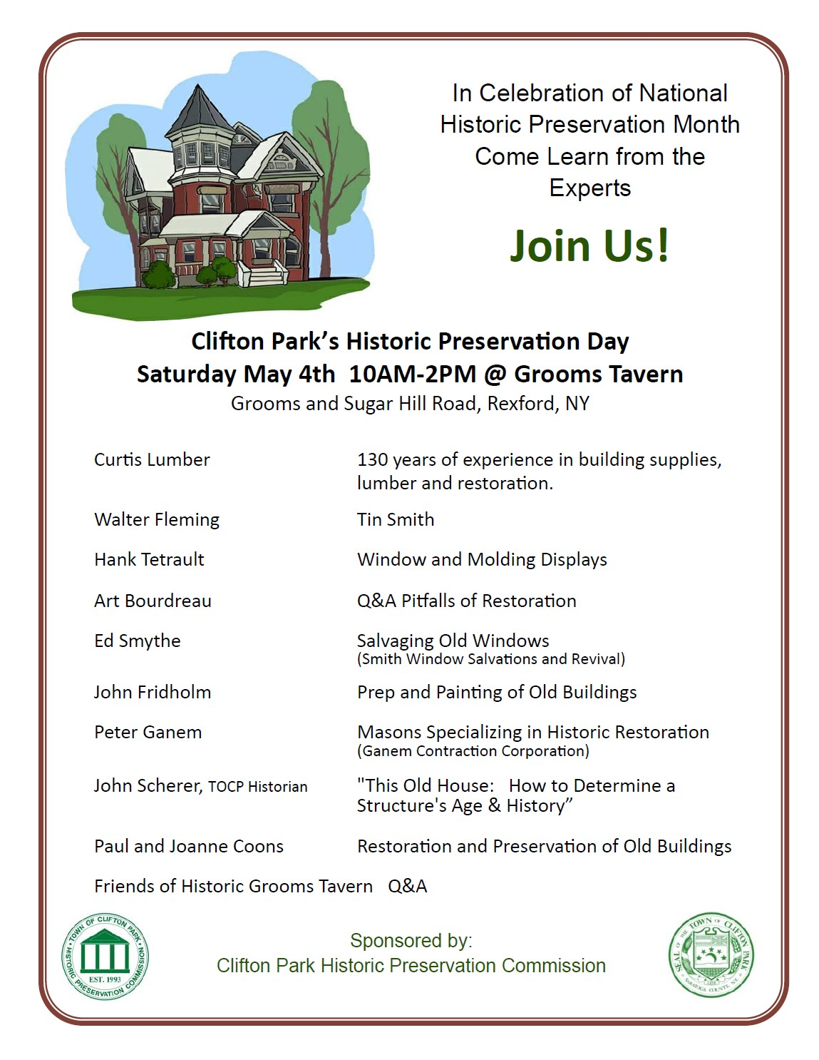 historic preservation day 2019 flyer